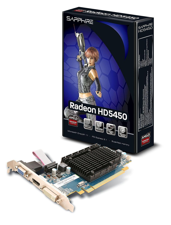 Sapphire Radeon HD 5450 - Tarjeta gráfica PCIe (1 GB DDR3, VGA ...