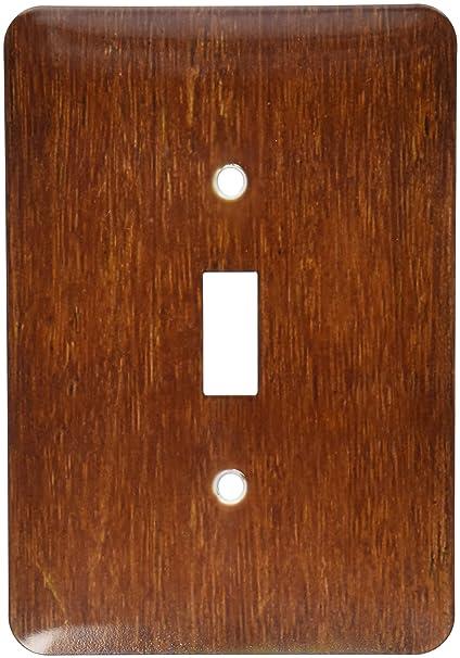 3drose Lsp415911 Dark Bamboo Wood Single Toggle Switch Switch
