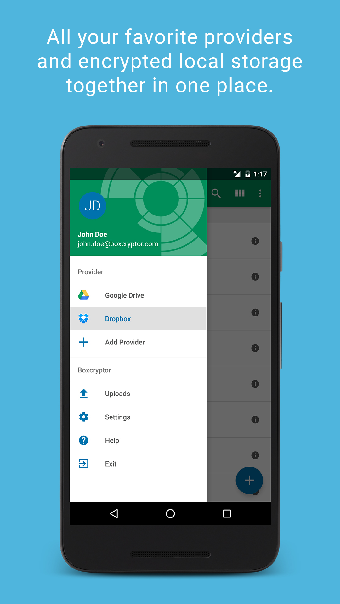 How to use boxcryptor android