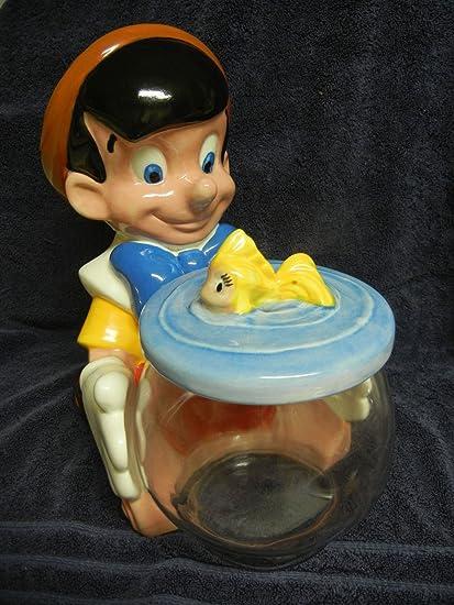 Disney Cookie Jars Amazon Com >> Amazon Com Walt Disney Treasure Craft Pinocchio And Cleo Fish Bowl