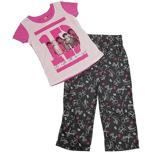 Amazon.com: One Direction Girls Size 4-14 Autograph Poly Pajama Set ...