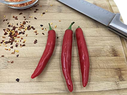 Amazon com: Cayenne Peppers Replica Plastic Chile Vegetable Display