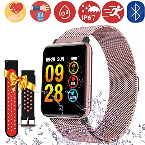 Smartwatch Fitness Tracker -1.3 Reloj Inteligente IP67 Impermeable con Podómetro Pulsómetro Presión Sanguínea