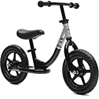 Critical Cycles Cub No-Pedal Balance Bike for Kids (Black/Silver)