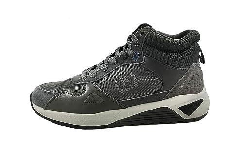 Scarpe Uomo Moda/Casual Navigare Sneaker Alte in Tessuto Plantare in Memory  Foam 5020