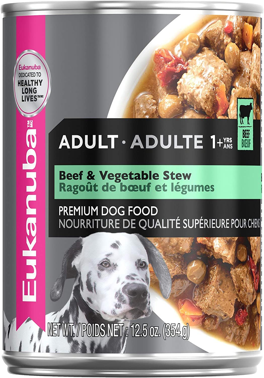 Eukanuba Hearty Stew with Beef & Vegetable Cuts in Gravy Adult Canned Dog Food