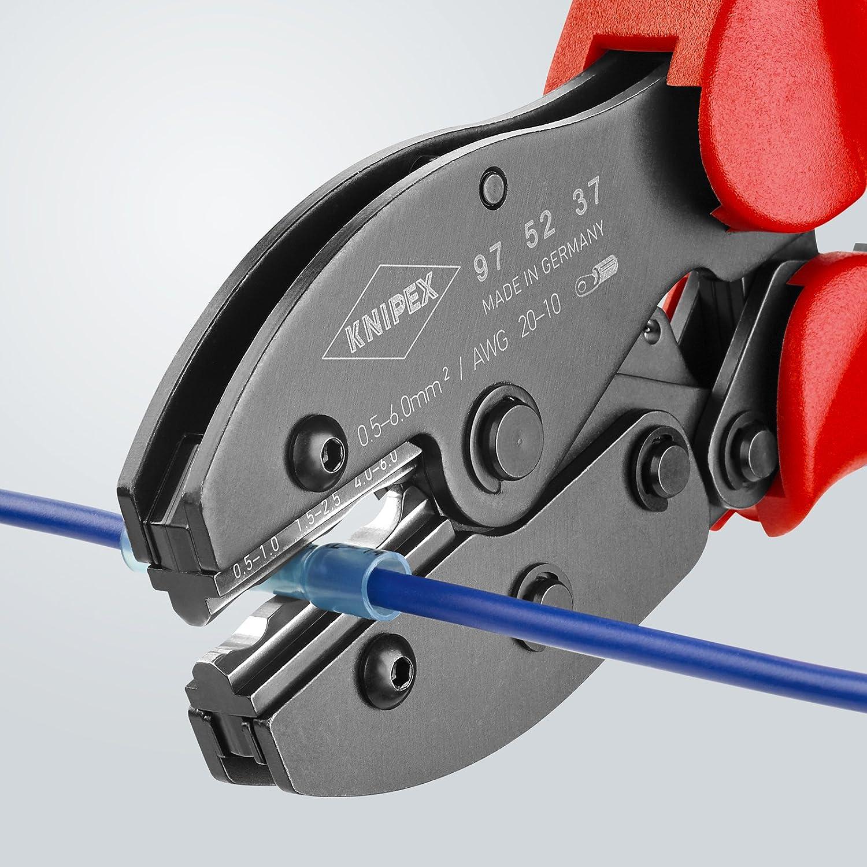 Crimpzange f/ür Schrumpfschlauchverbinder Knipex 97 52 37 PreciForce