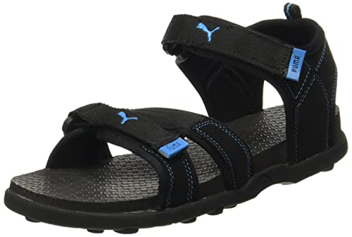 Puma Men's Techno Black and Blue Aster Athletic & Outdoor