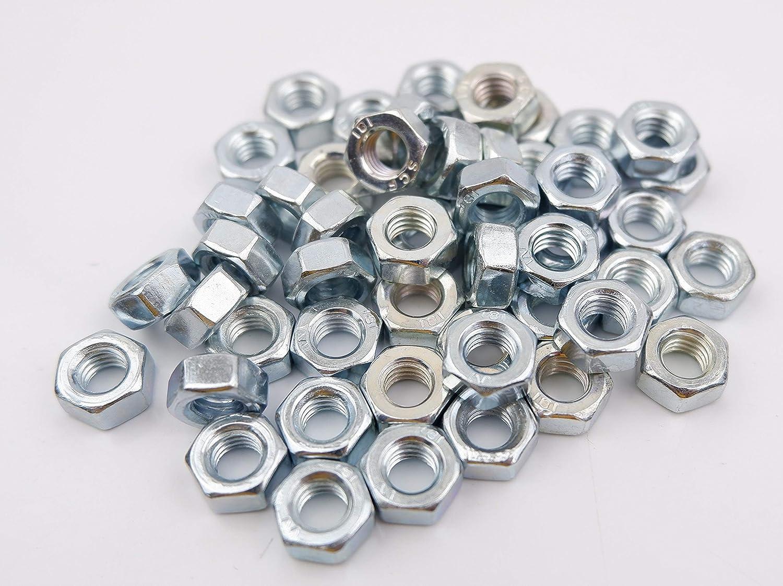de acero mm paquete de hexagonal lisa brillante galvanizada BZP grado 8 Tuerca hexagonal M