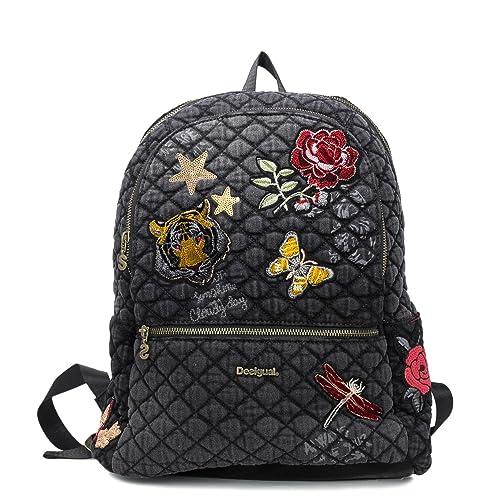 Desigual - Bolso mochila para mujer, color Negro, talla One Size: Amazon.es: Zapatos y complementos