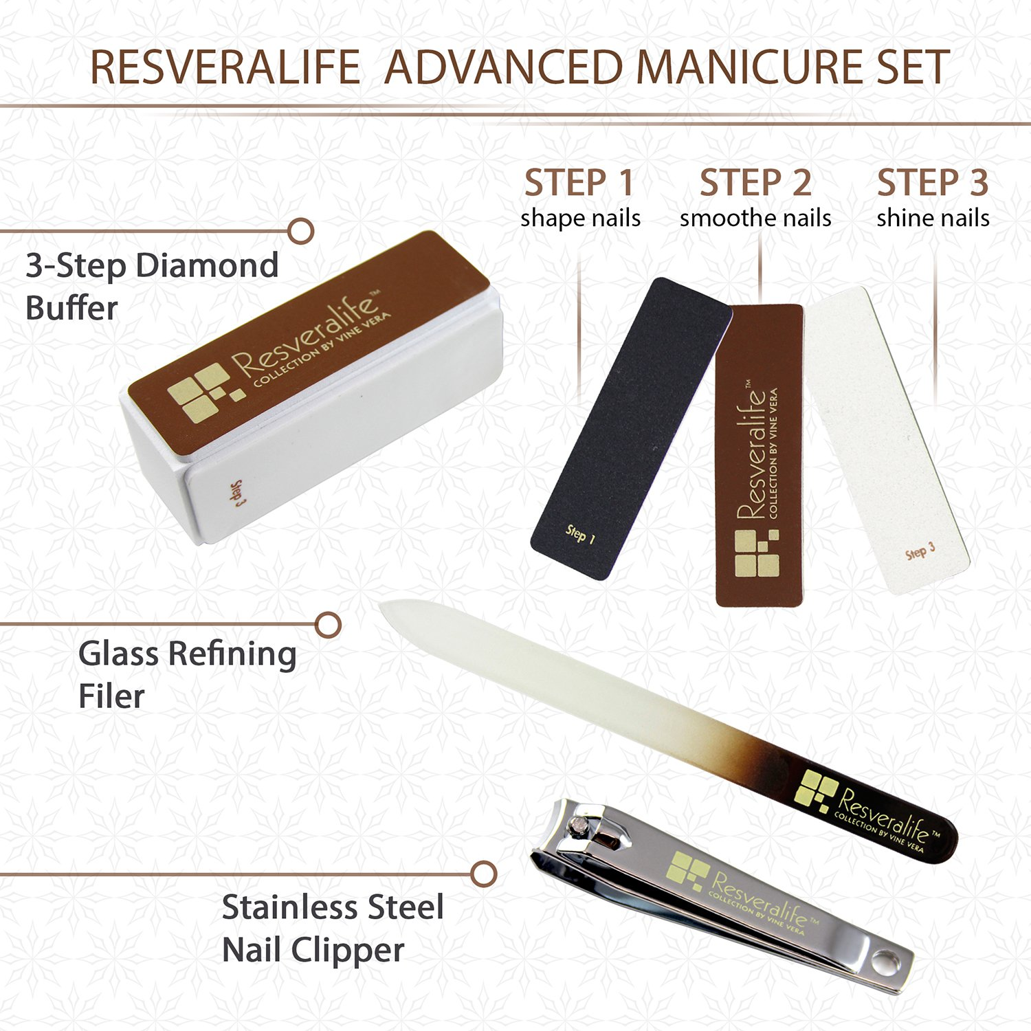 Amazon.com : Resveralife Advanced Nail Kit, Strong Durable Set for ...