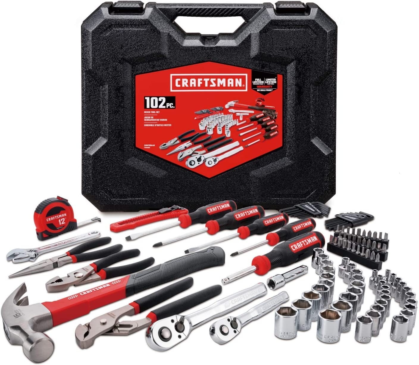 CRAFTSMAN Home Tool Kit / Mechanics Tools Kit, 102-Piece (CMMT99448)