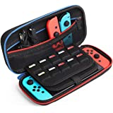 Kootek Travel Carrying Case for Nintendo Switch, 20 Games Cartridges & Zipper Mesh Pocket Protective Hard Shell Carry Cases f