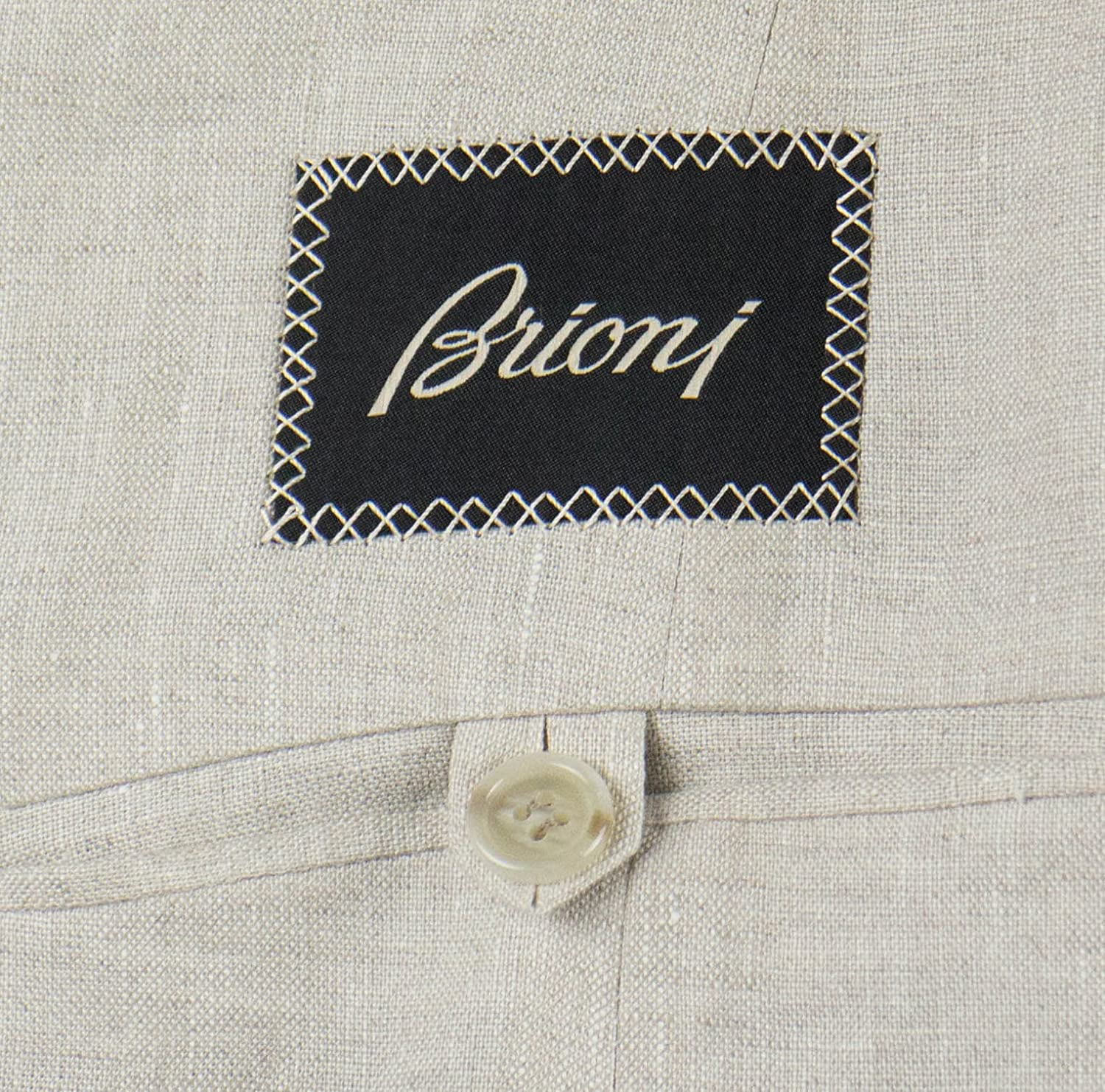 3fc3a5fff69383 brioni Piuma Beige Linen 3/2 Button Sport Coat Blazer Size 52/42 S at  Amazon Men's Clothing store: