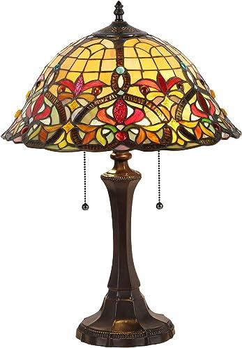 Serena D italia Tiffany Style Amberjack Table Lamp