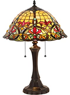 Chloe Lighting CH33389VR16 TL2 Bertram Tiffany Style Victorian 2 Light  Table Lamp 18