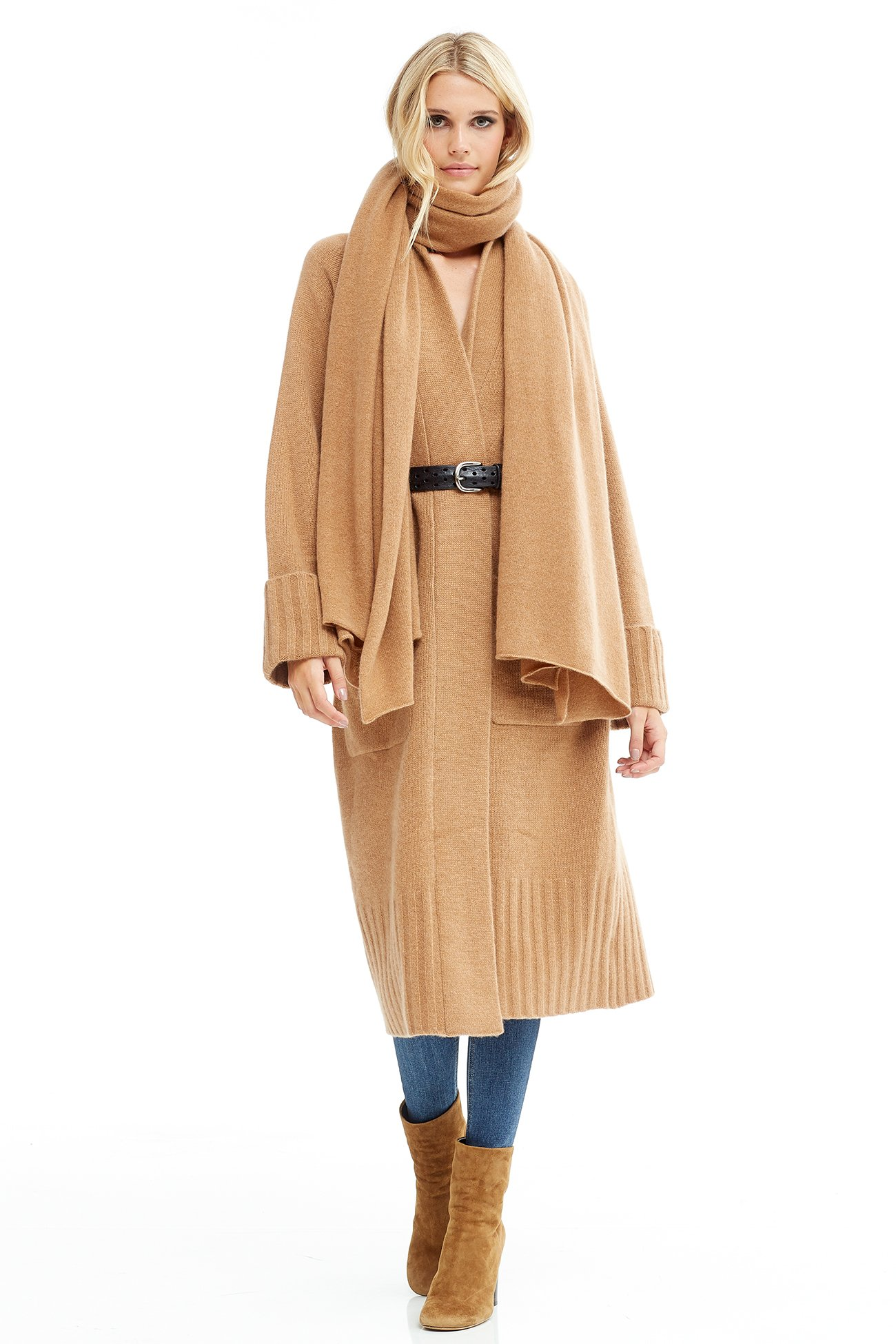 NAKEDCASHMERE Women's Karlie Wrap O/S Caramel by NAKEDCASHMERE