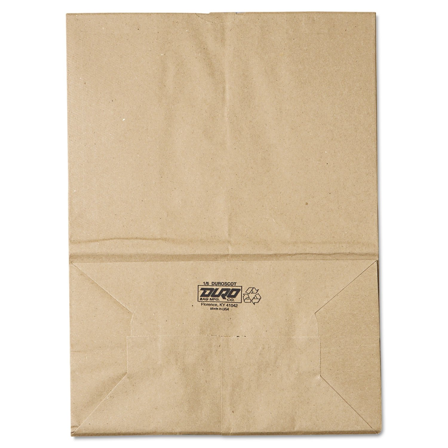 General SK1657 1/6 BBL Paper Grocery Bag, 57lb Kraft, Standard 12 x 7 x 17, (Case of 500 Bags)