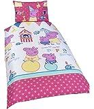 Character World Peppa Pig Funfair 135 x 200 cm Single Rotary Duvet Set