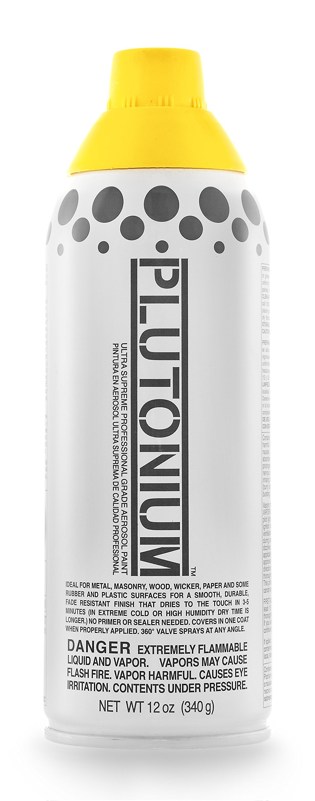 Plutonium Paint PLUTON-30020 Ultra Supreme Professional Aerosol Paint, 12-Ounce, Limon Cello