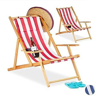 Strandstuhl Strandliege Liegestuhl Sonnenliege Tasche Nackenkissen Becherhalter