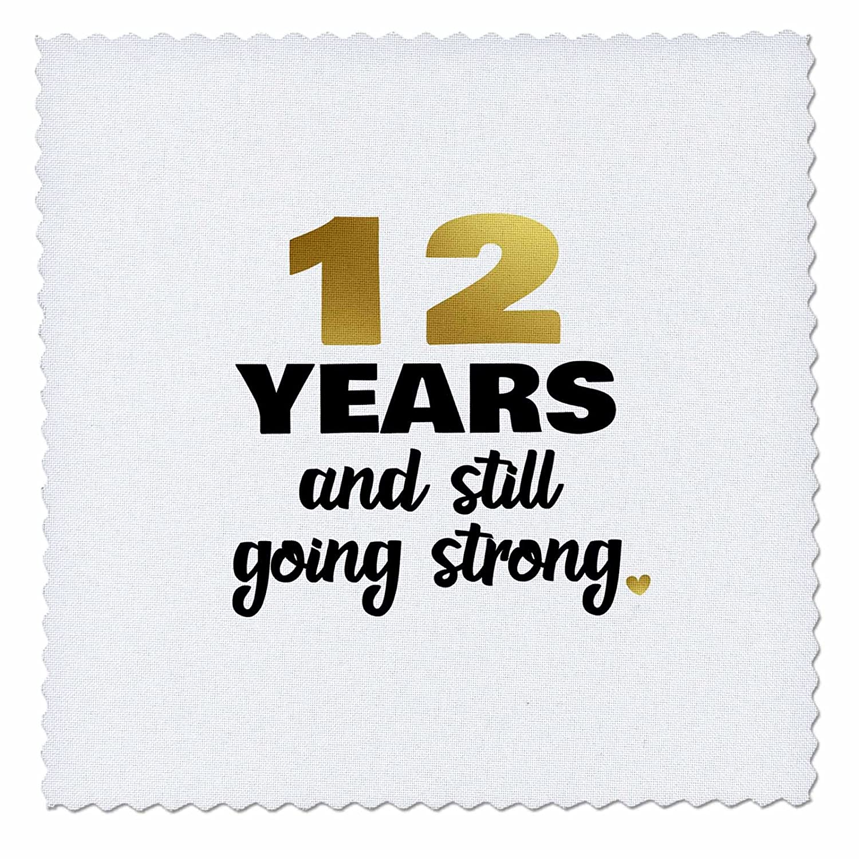 Free Shipping 3drose Janna Salak Designs Anniversary 12 Years