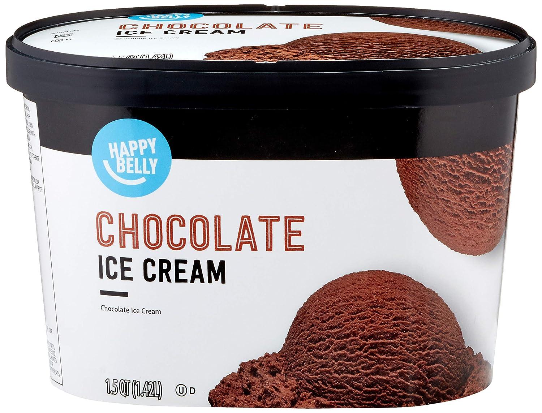 Amazon Brand - Happy Belly Chocolate Ice Cream, 48 Fl Oz (Frozen)