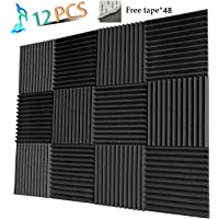 12-Pack YWSHUF Soundproofing Acoustic Panel (Charcoal)