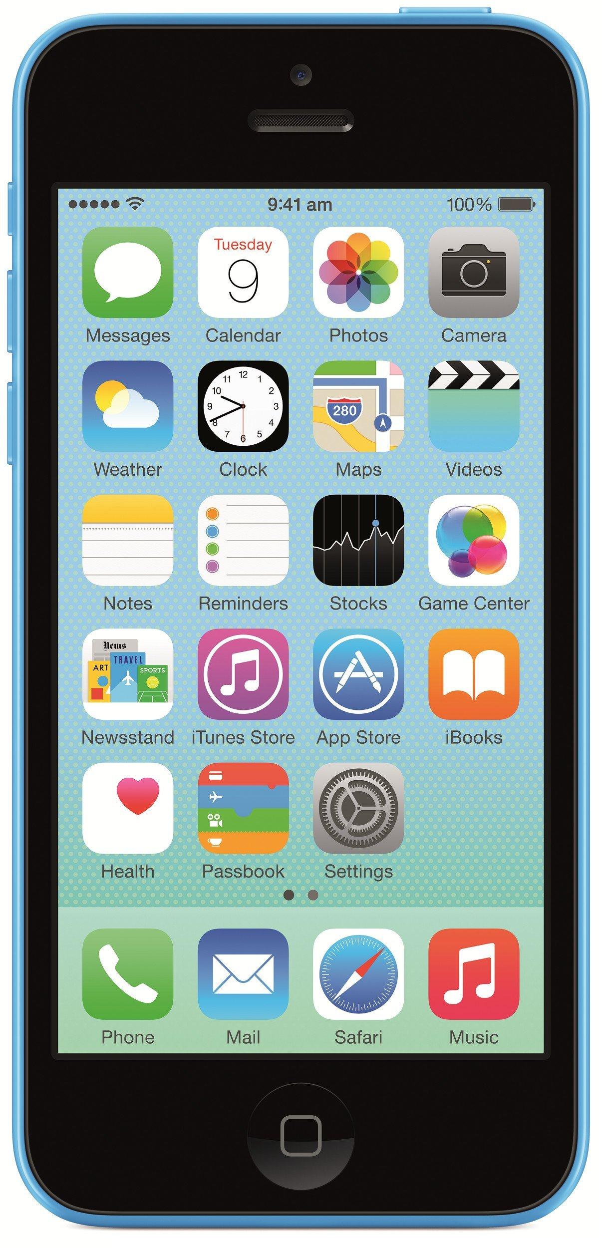 Apple iPhone 5c Factory Unlocked Cellphone, 8GB, Blue by Apple