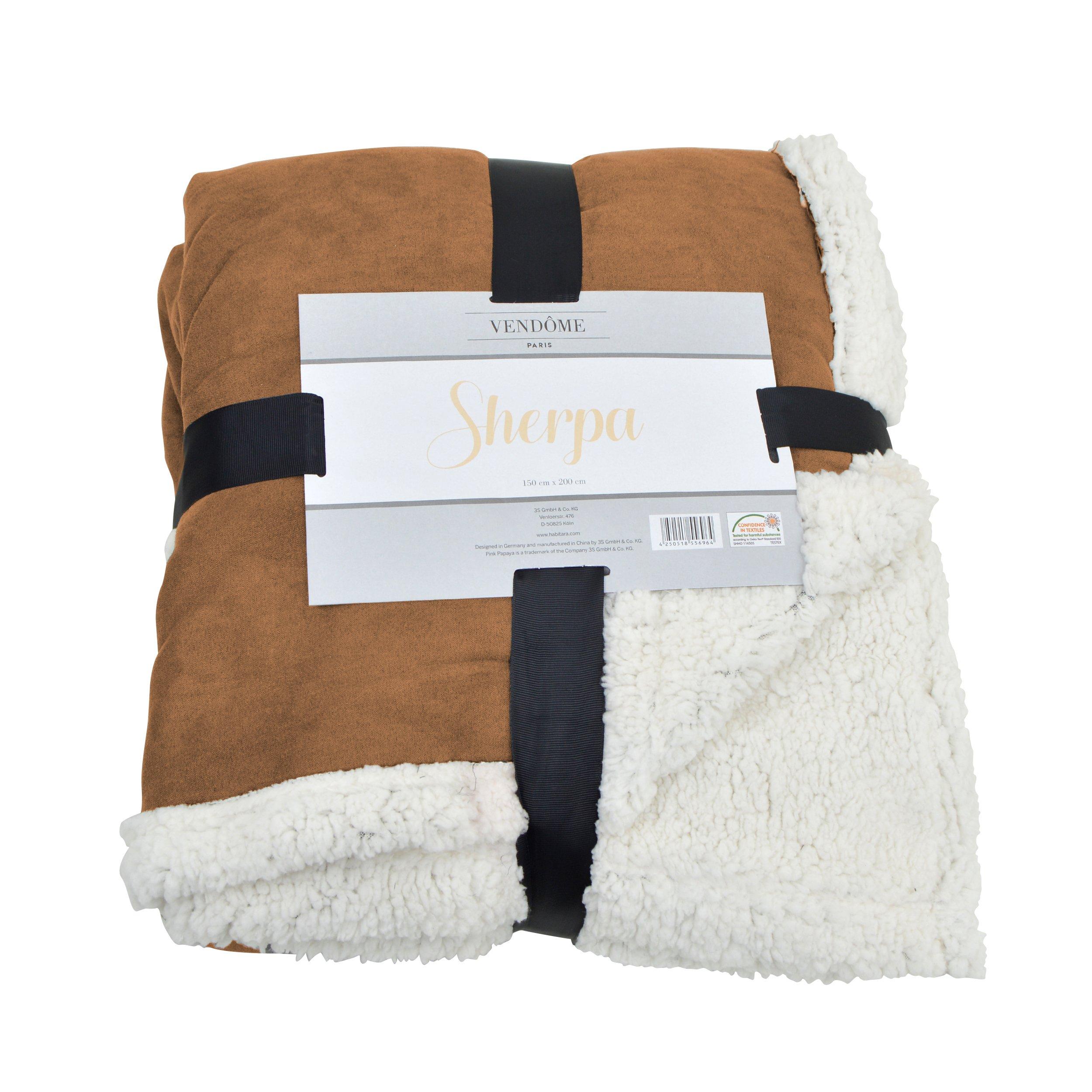 Vendôme Sherpa, manta de alta calidad XXL de felpa súper blanda, 200 x 150cm