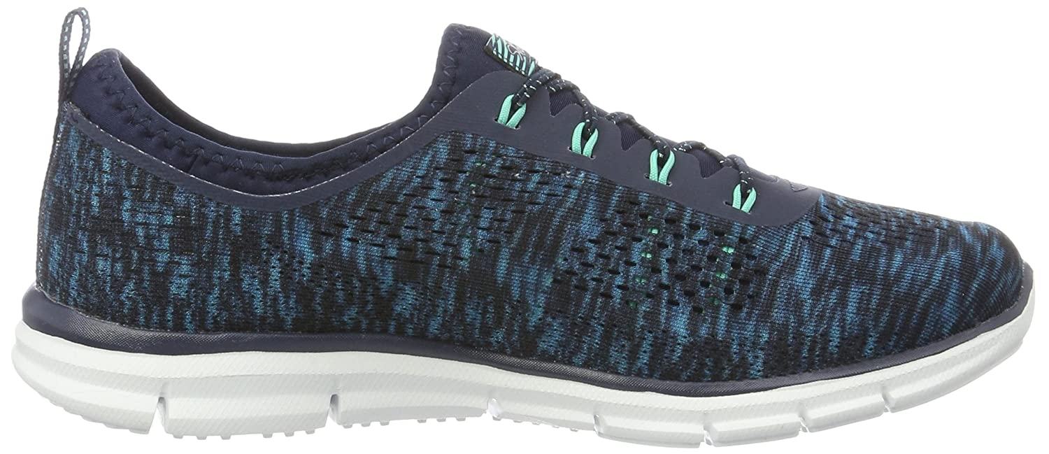Skechers Sport Women's Glider Stretch Fit Fearless Deep Space Sneaker B0113OAO98 9 B(M) US|Navy/Green