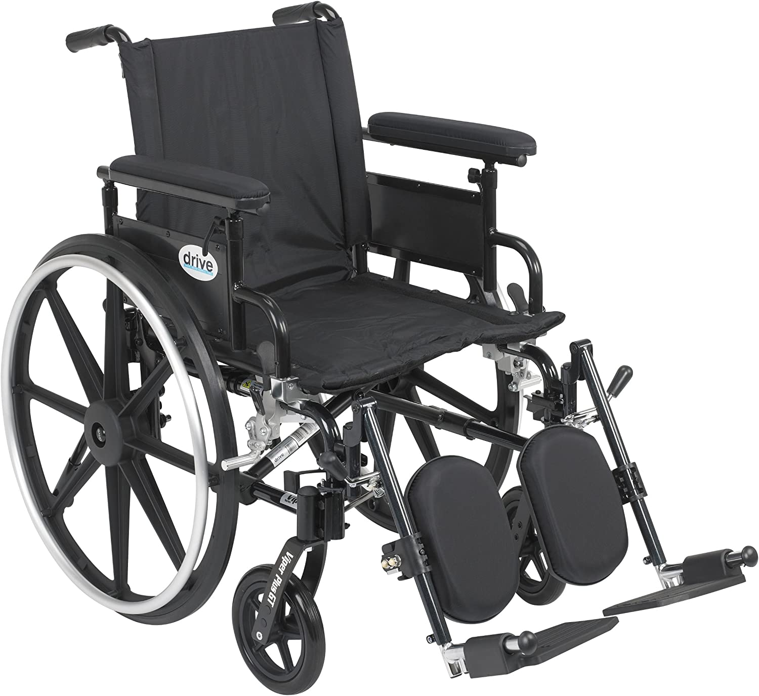 """Viper Plus GT Wheelchair with Flip Back Removable Adjustable Full Arms, Elevating Leg Rests, 20"""" Seat 81b8SZOOgEL"""
