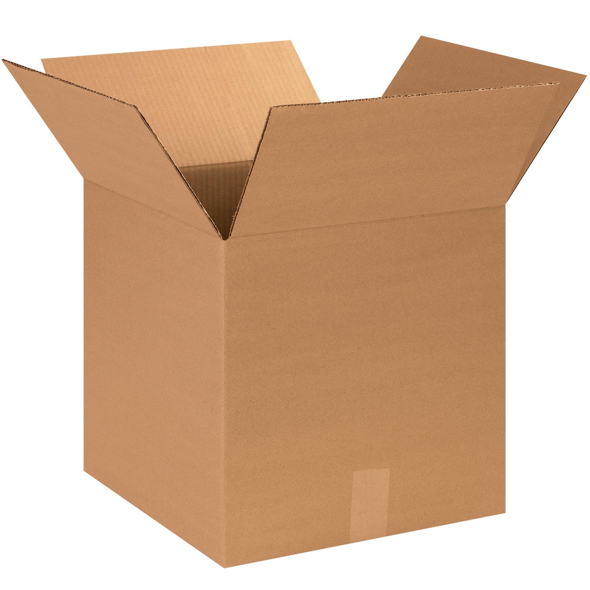 BOX USA B141414500PK Corrugated Boxes, 14''L x 14''W x 14''H, Kraft (Pack of 500)
