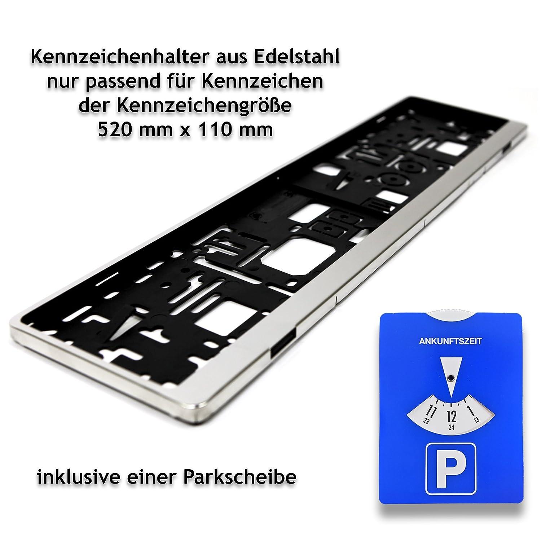 1 Kennzeichenhalter | Kennzeichenrahmen aus Edelstahl passend für ...