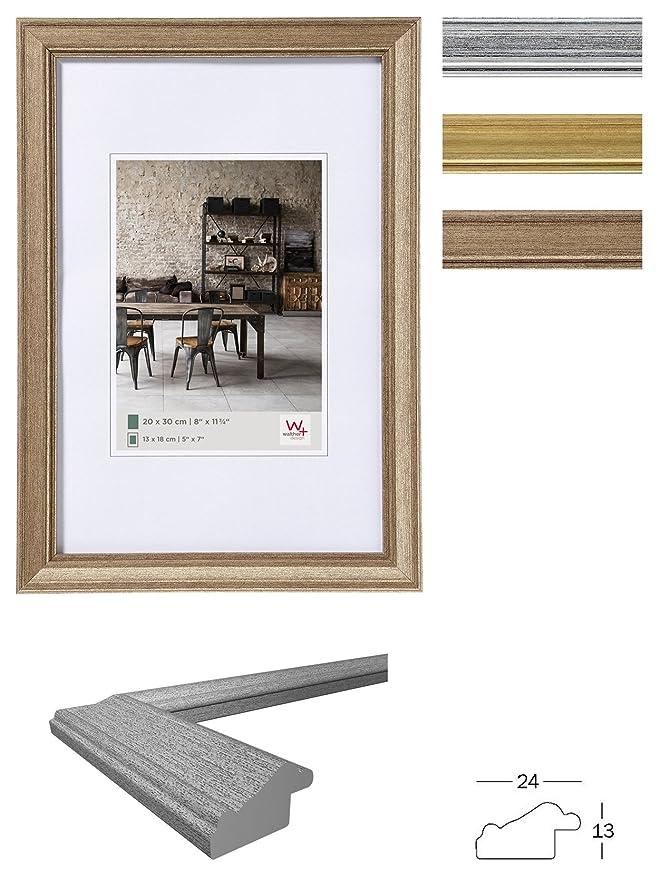 Amazon.de: walther design JA520S Bilderrahmen Lounge, 15 x 20 cm, silber