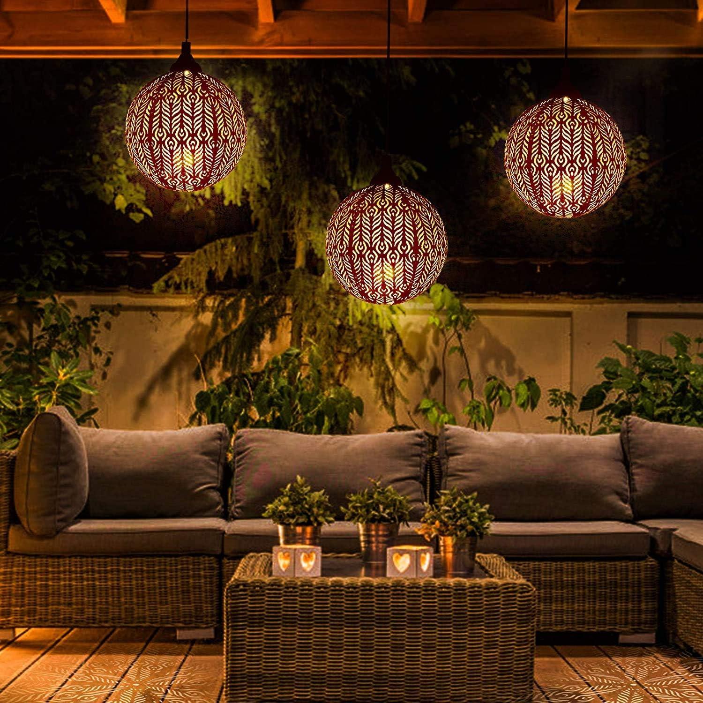Farol Solar Exterior Jardin GolWof LED Luz Colgante de