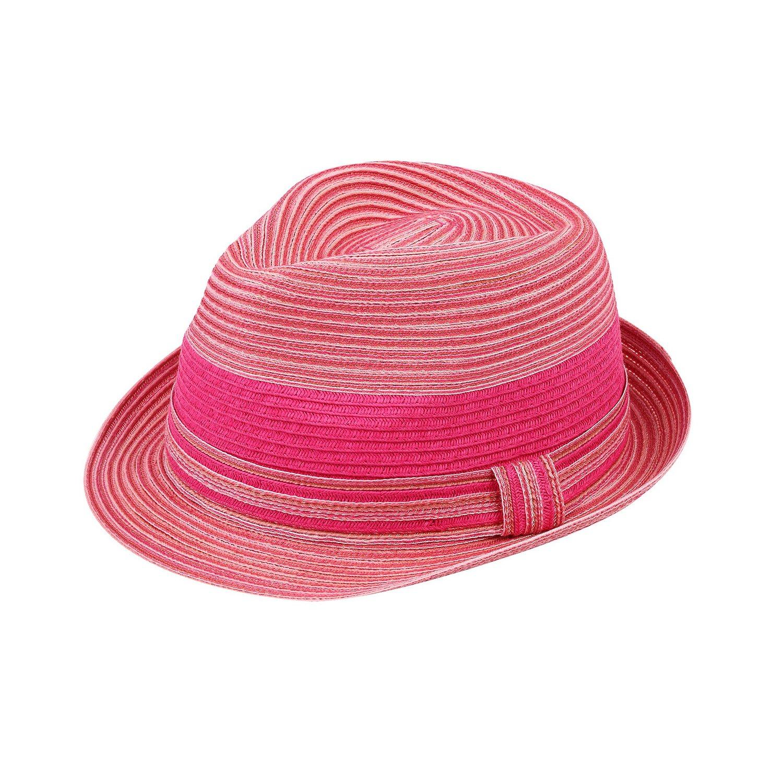 Sun Styles Rosie Ladies Modern Trilby Fedora Hat, Fuchsia