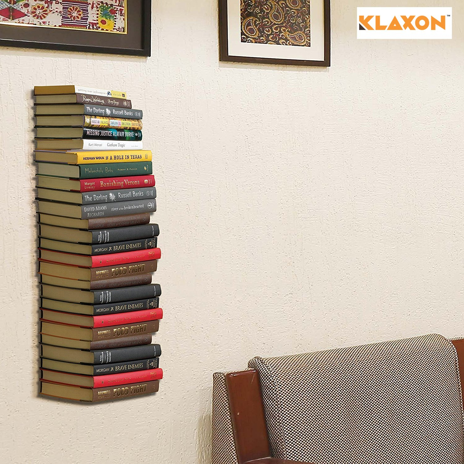 Klaxon Wall Mounted Book Shelf Metal Black Pack Of 3 Amazonin Home Kitchen