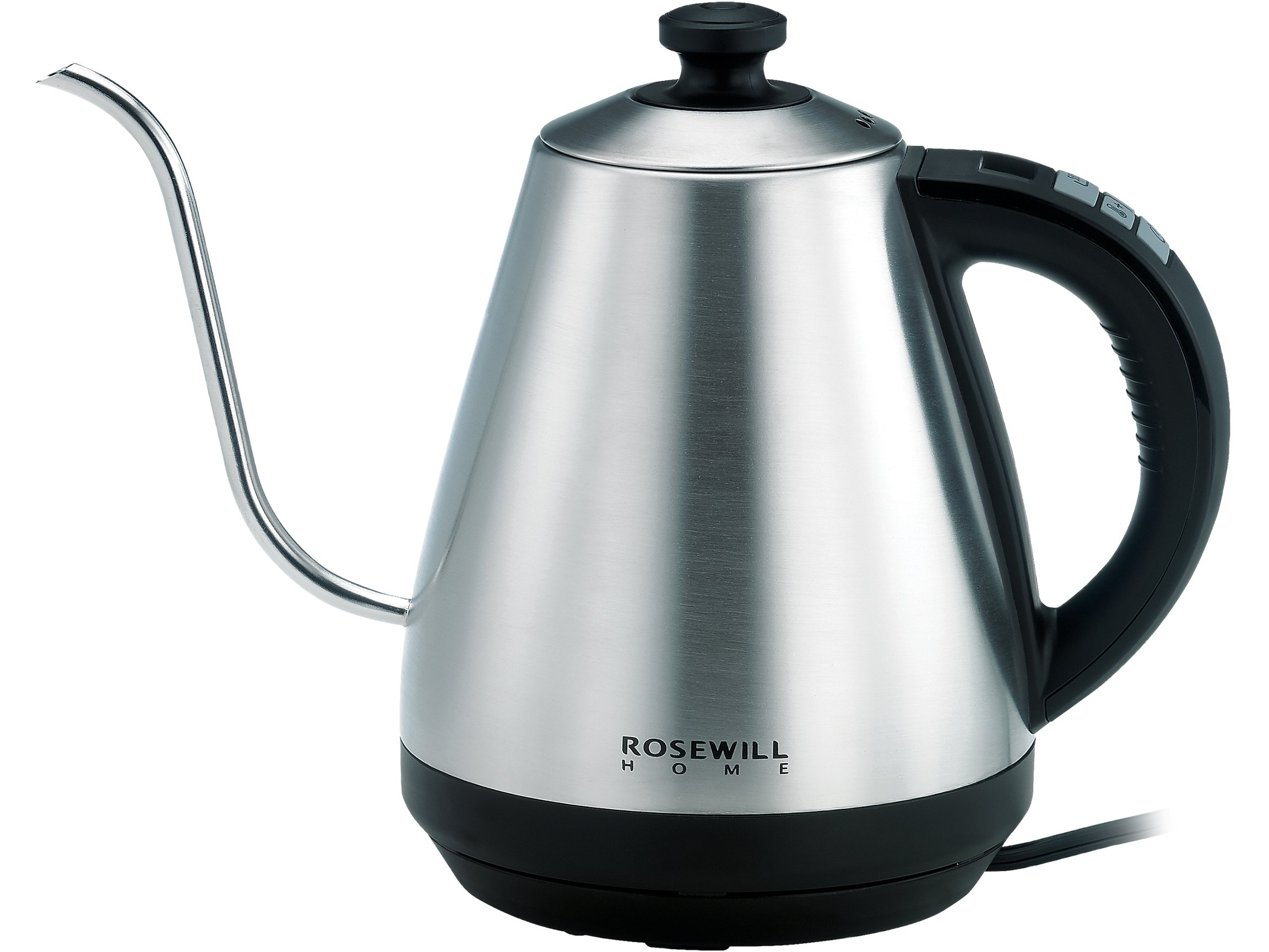 Rosewill Pour Over Coffee Kettle, Electric Gooseneck Kettle, Coffee Temperature Control with Variable Temperature Settings, Stainless Steel,  RHKT-17002
