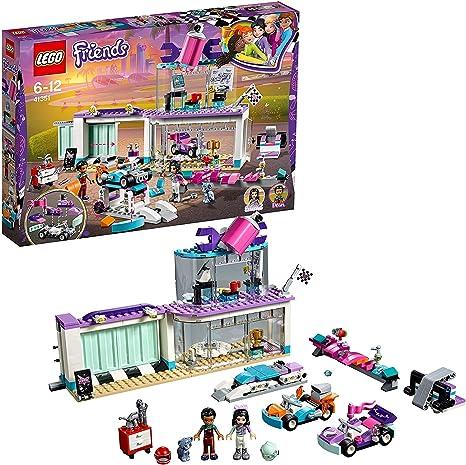 LEGO Friends - Taller de Tuneo Creativo, Juguete con Mini Muñecas y Karts para Imaginar y Recrear Divertidas Carreras de Coches, para Niñas y Niños de 6 a 12 Años (41351)