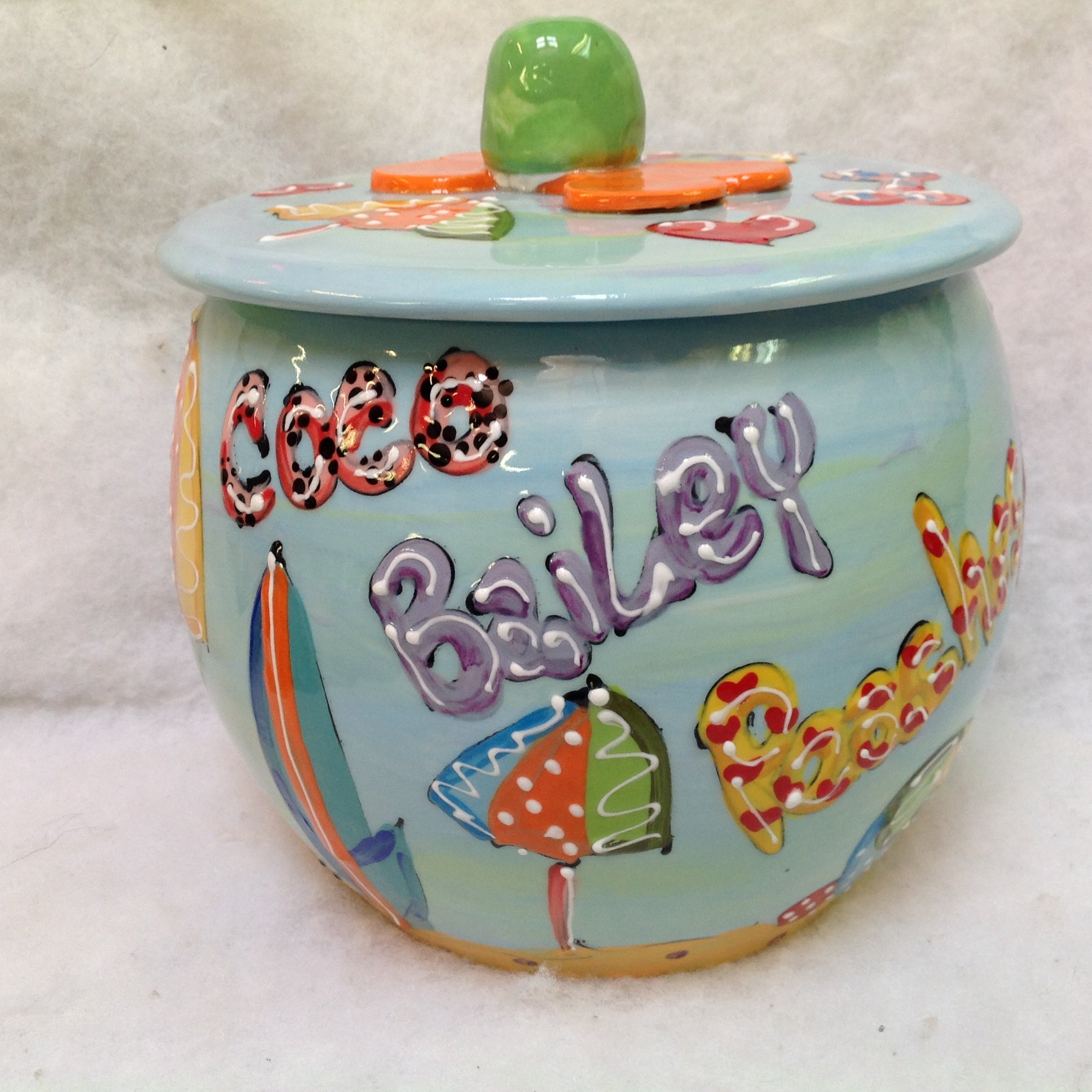 Golden Retriever Treat Jar, Personalized at no Charge. Signed by Artist, Debby Carman.