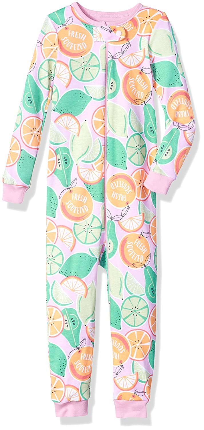 The Children's Place Baby Girls' Long Sleeve 'Fresh Squeezed' Citrus Printed Stretchie Sparkle Pink 5T 2096435008