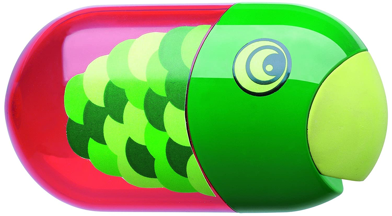 Faber-Castell 183525 - Doppelspitzdose Fisch Inklusiv Radierer