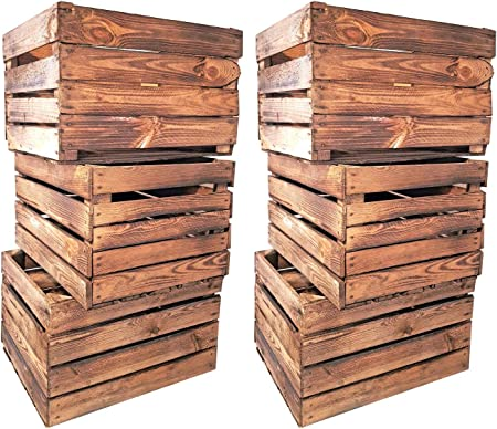 Massive geflammte Frutas Cajas de madera vino Cajas Used gefla MMT ...