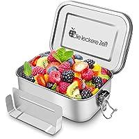 Bess Auslaufsicher Edelstahl Brotdose | Umweltfreundliche Brotdose ohne Plastik&BPA | Die hochwertige Lunchbox | 800ml Bento Box | Die große Brotbox zum Wandern