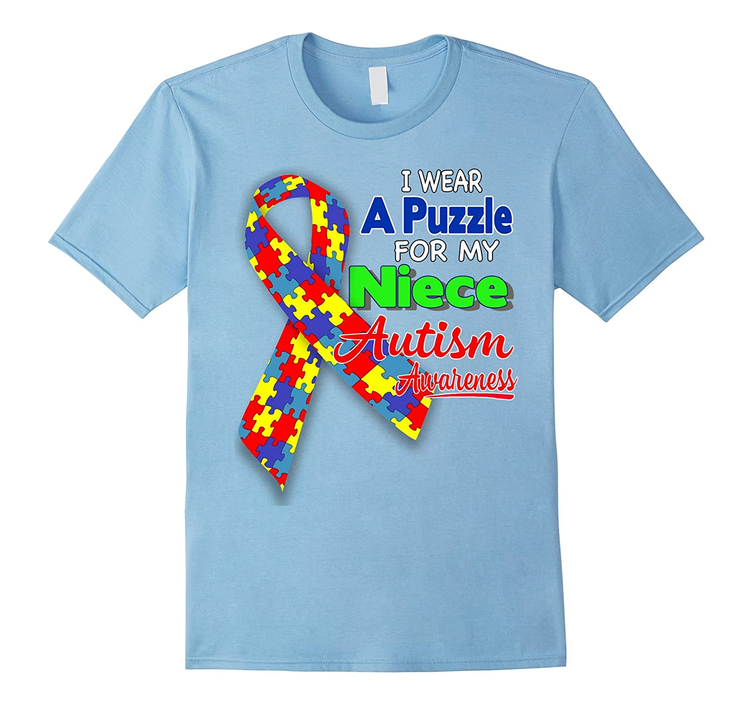 I wear a Puzzle for my Niece - Autism Awareness shirt-TD