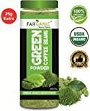 FARGANIC 100% Certified Organic Arabica Green Coffee Beans Powder for Weight Loss (200+25GM)