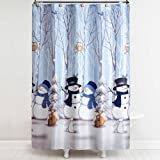 Winter Friends Shower Curtain With Hooks