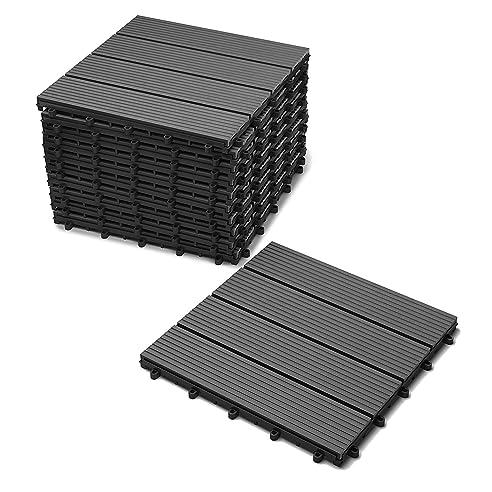 Sam® Terrassen-Fliese, Wpc Kunststoff, 11Er Spar Set Für 1 M²