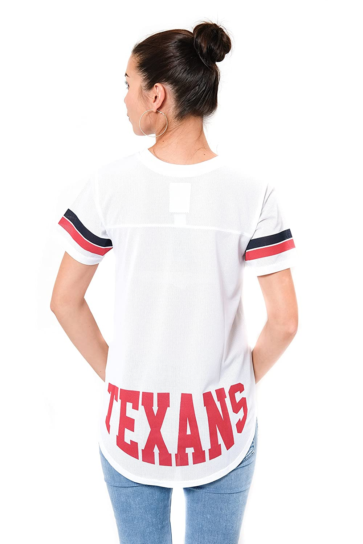 NFL Houston Texans Ultra Game Womens MESH S//S CREW YORK TEE Large White
